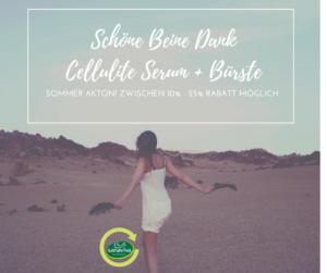 Schöne Beine Dank Cellulite Serum + Bürste von sanaviva